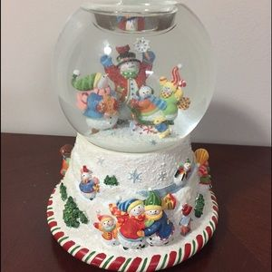 Partylite Peppermint Pals Christmas Snow Globe